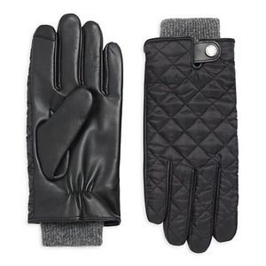 POLO RALPH LAUREN Quilted Field Hybrid Leather 3M touchscreen gloves